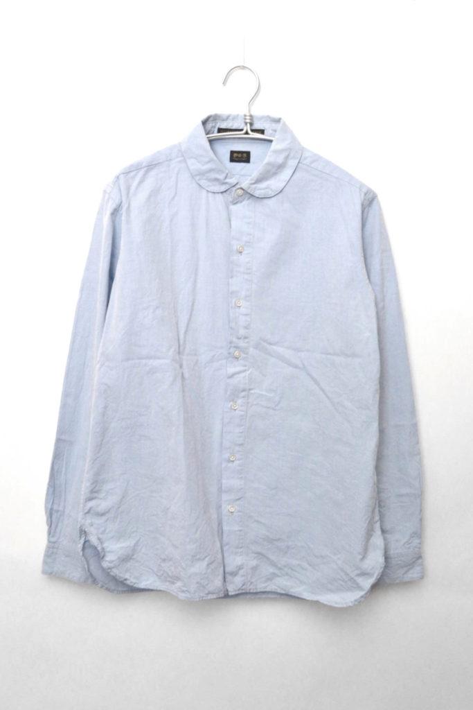 コットンポプリン ラウンドカラーシャツ