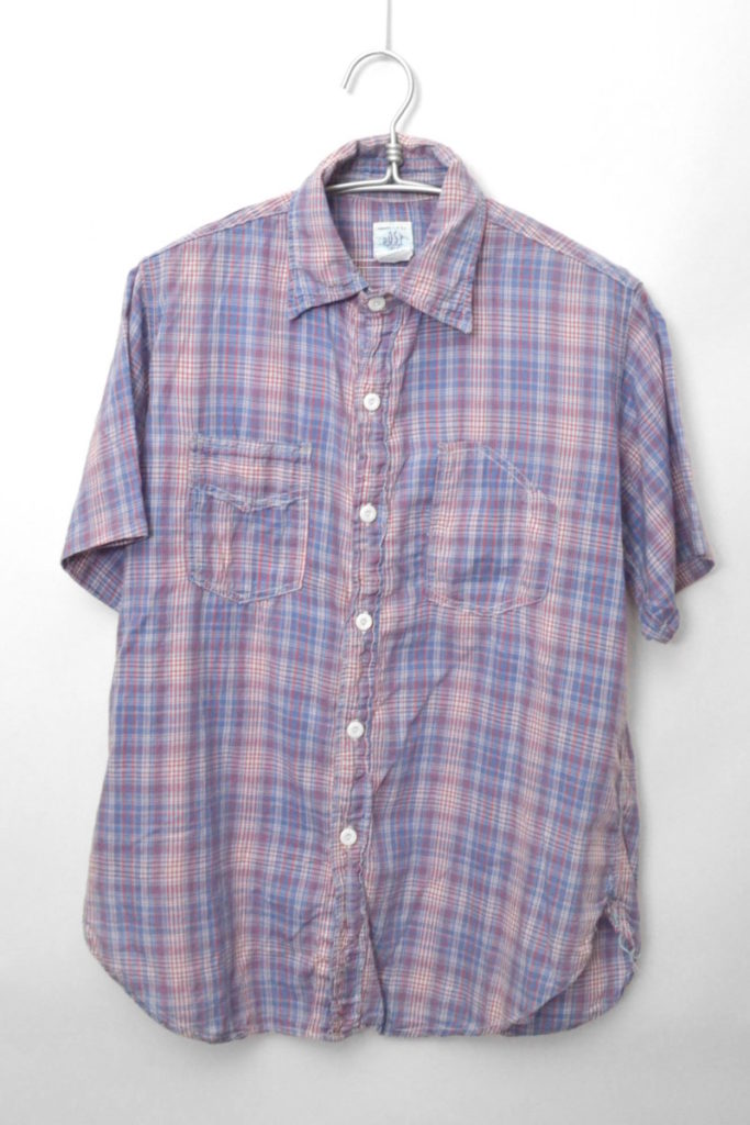 SWEET BEAR SHIRT チンストラップ チェック半袖シャツ