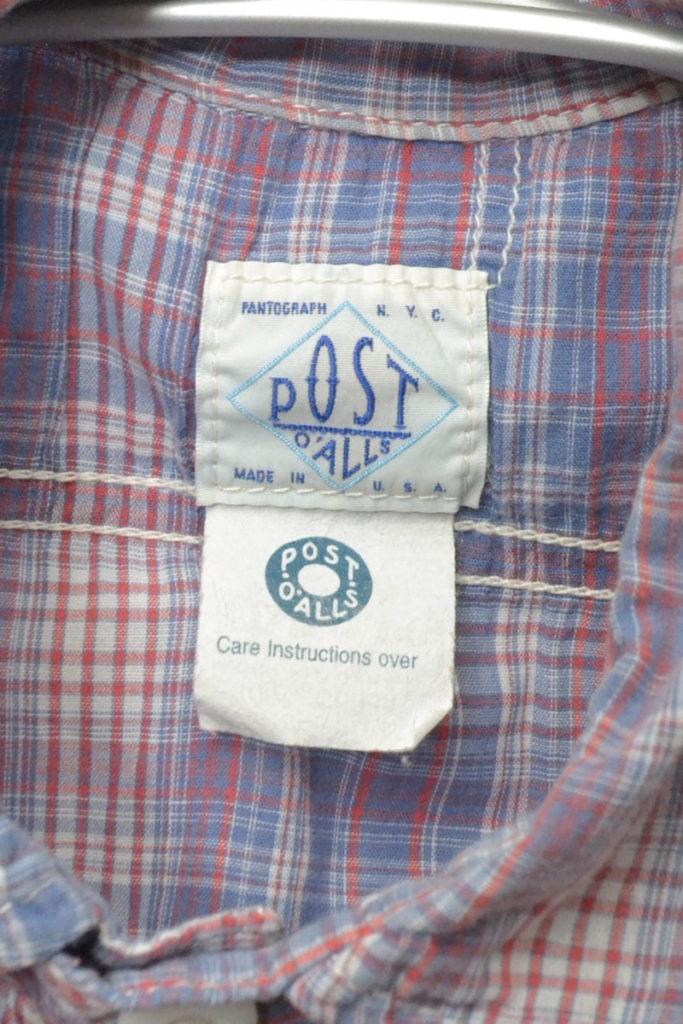 SWEET BEAR SHIRT チンストラップ チェック半袖シャツの買取実績画像