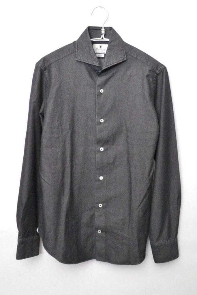 VINCIFIT カッタウェイカラー シャンブレーシャツの買取実績画像