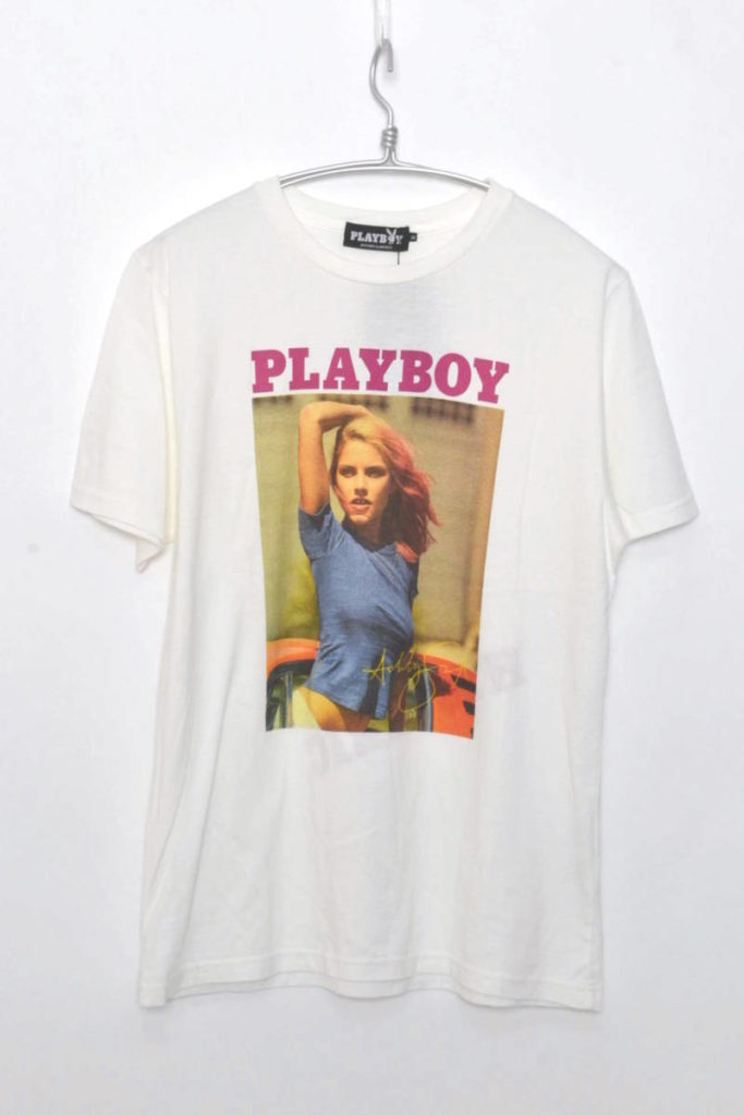 × PLAY BOY/ ASHLEY SMITH pt T-SH プリントTシャツ