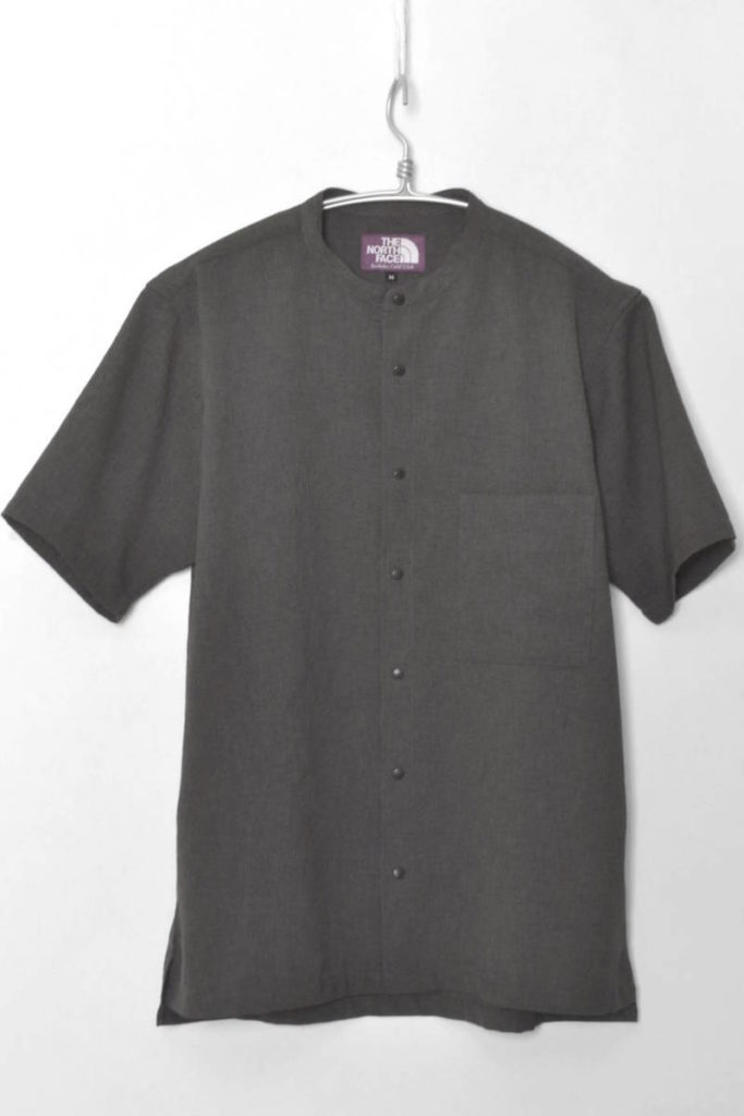 2017SS/MESH H/S Stand Collar Shirt スタンドカラーシャツ