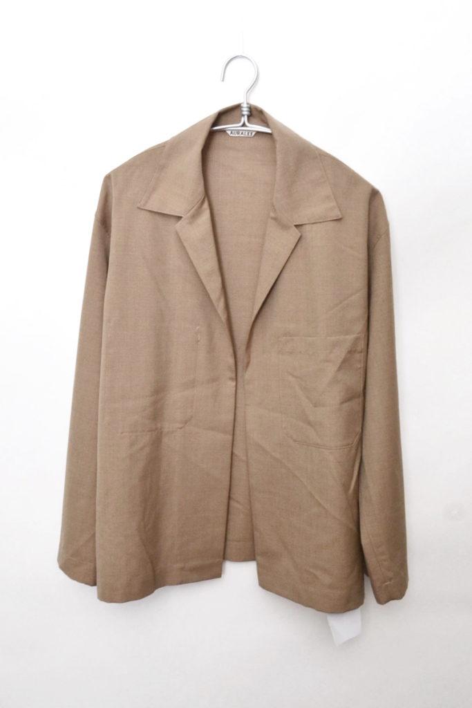 2018SS/wool silk shirts jacket ウールシルク シャツジャケット