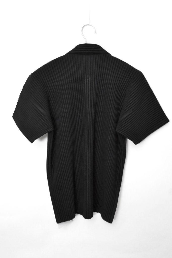 BASICS プリーツ オープンカラー半袖シャツの買取実績画像