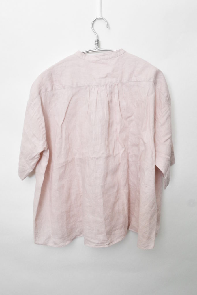 2018SS/リネンクロス バンドカラー プルオーバーシャツ ブラウスの買取実績画像