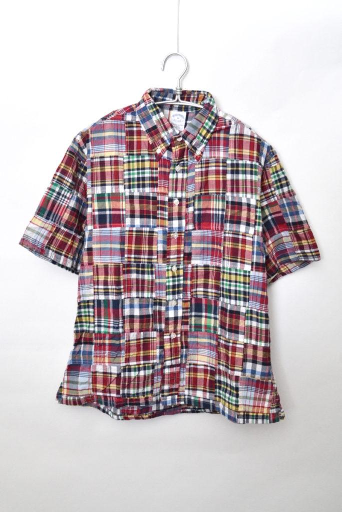 パッチワークチェック 半袖シャツ