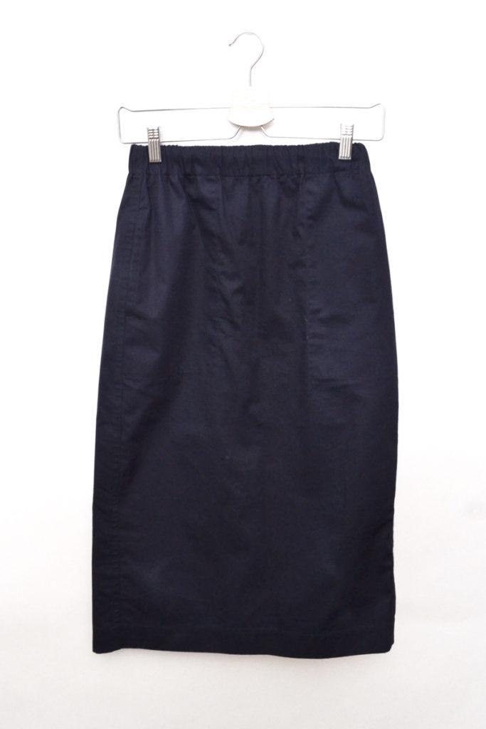ウエストゴム バックスリットスカート
