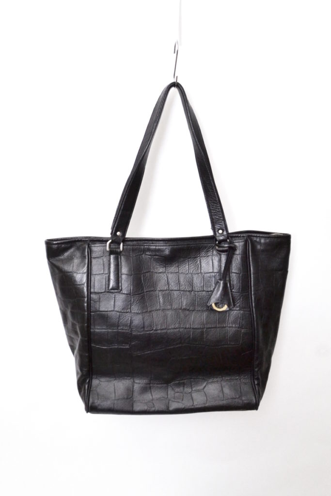 Double Embossed Leather Simple Tote クロコダイル型押し シンプル トートバッグ