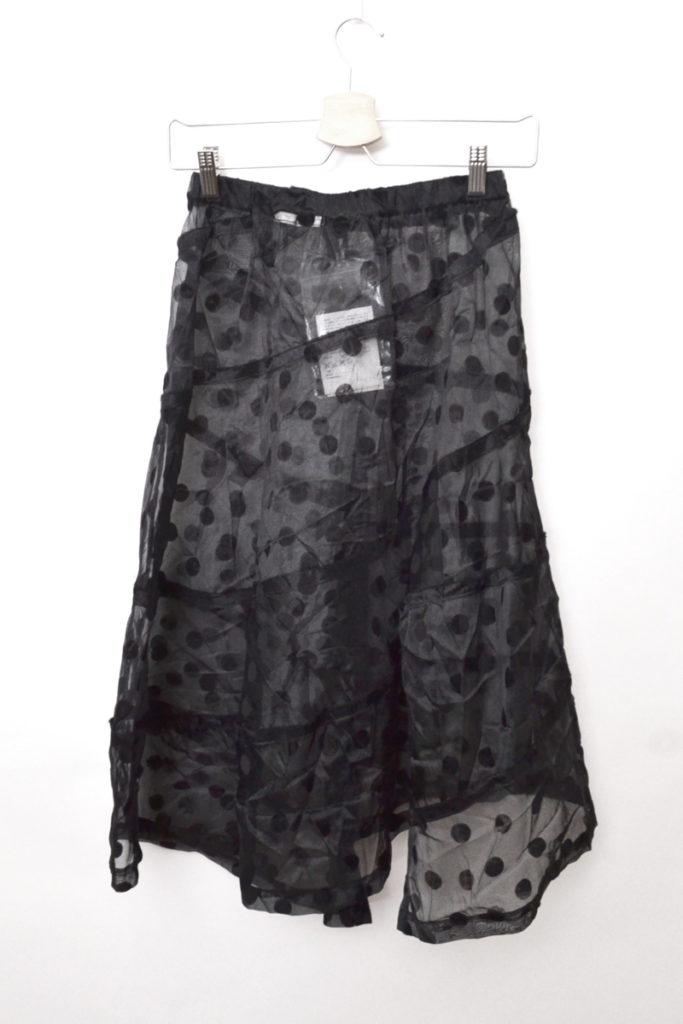 AD2003 2003AW/フロッキードット ポリエステルしわ加工 スカートの買取実績画像