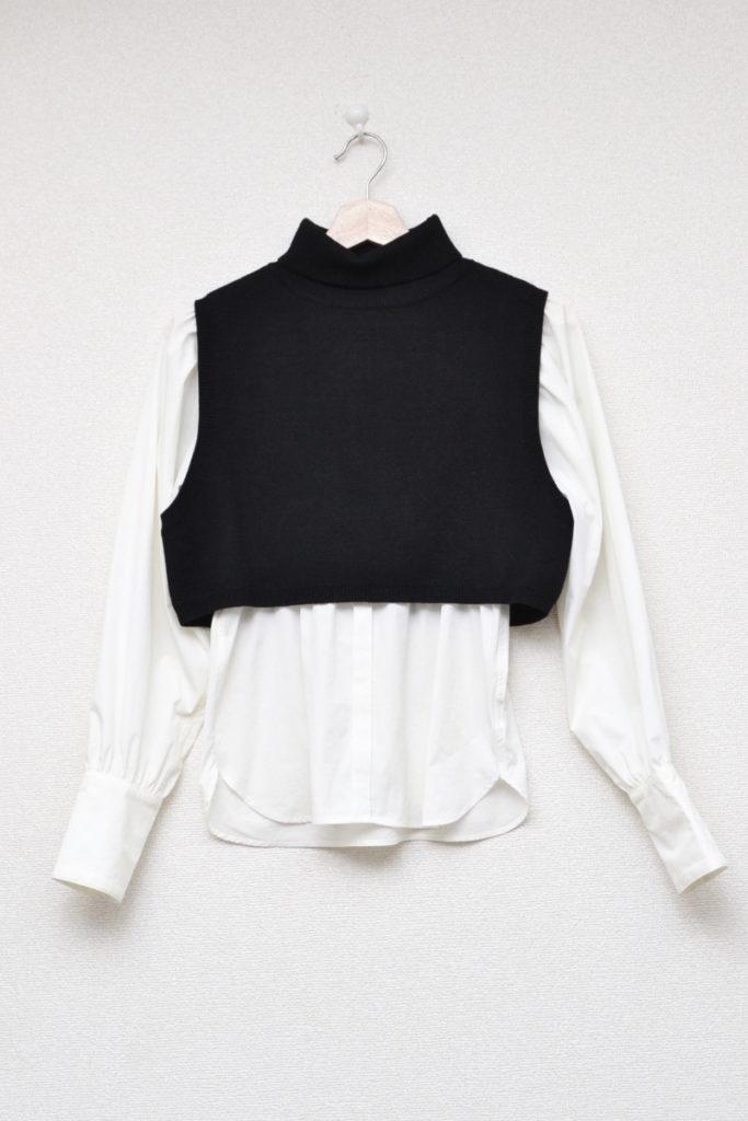 MINI KNIT DOCKING SHIRT ミニニット ドッキングシャツ