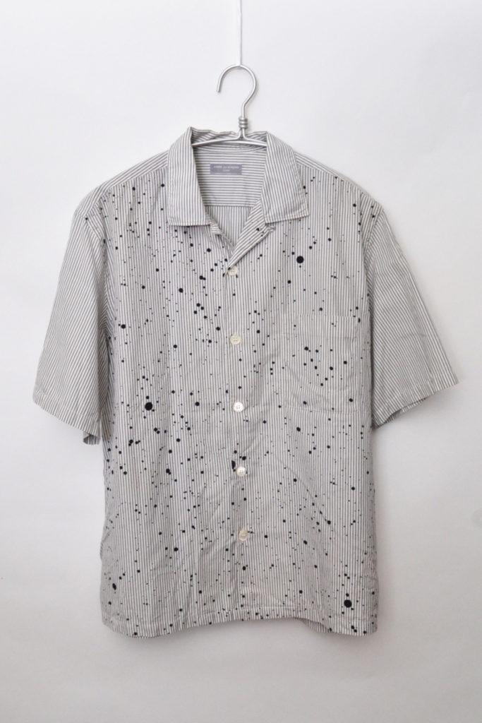 02SS/ペンキプリント オープンカラーシャツ