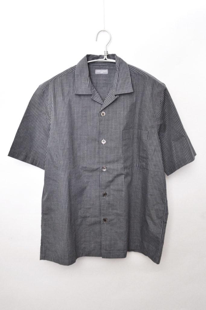 AD2001/ポリエステルストライプ オープンカラーシャツ
