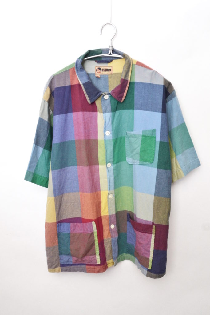 2018SS/FRANKIE'S SHIRT- MULTI CHECK マルチチェック オープンカラーシャツ
