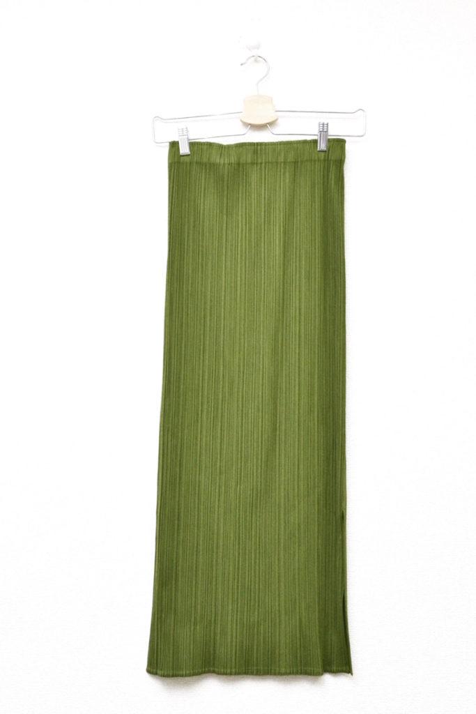 2001AW/スリット プリーツ ロングスカート