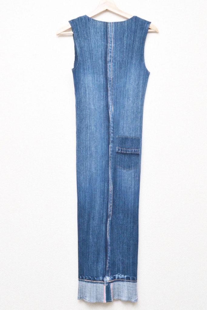 2000SS/胸ポケット付き デニム風 ロングワンピースの買取実績画像