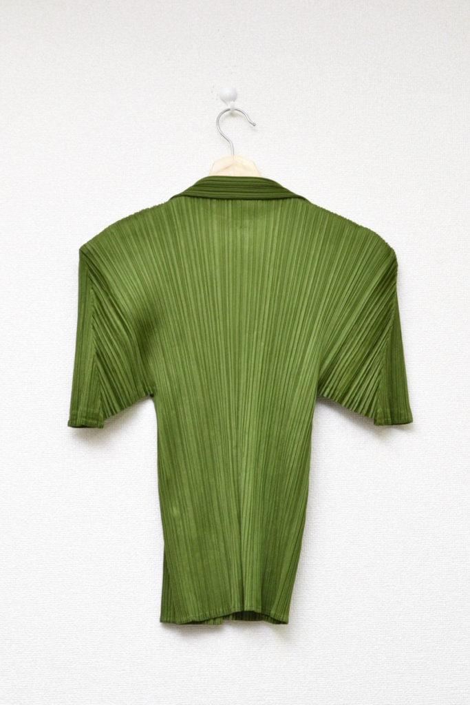 2001AW/開襟 半袖プリーツシャツ ブラウスの買取実績画像