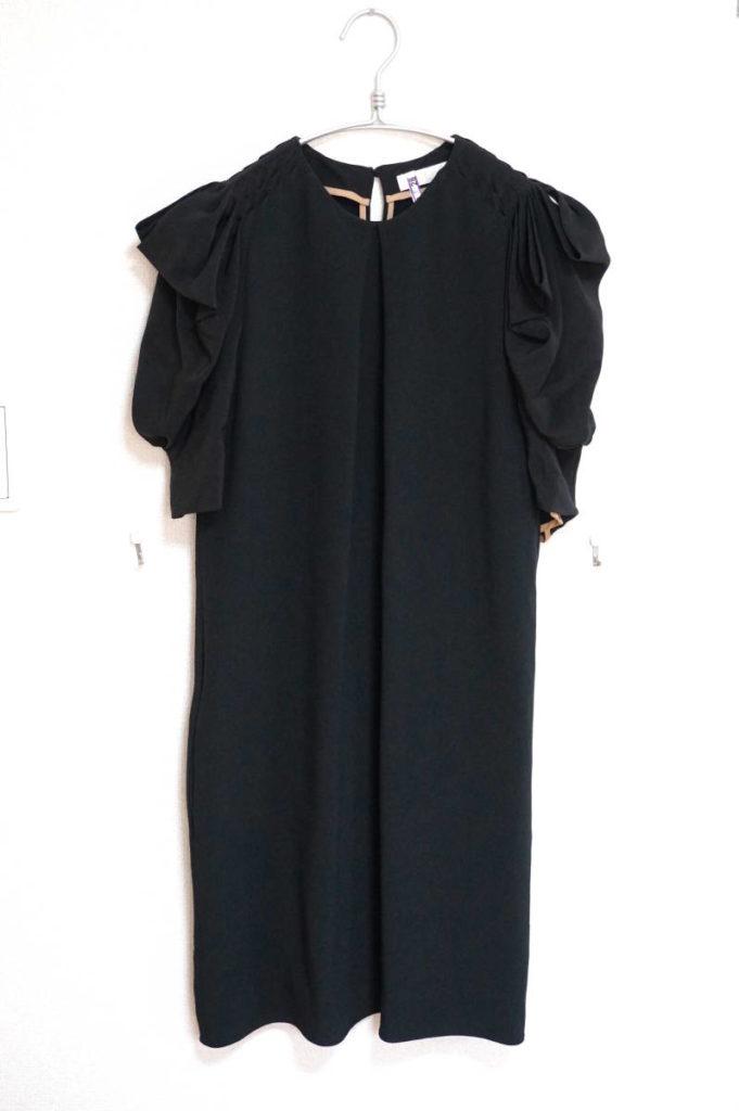 変形スリーブ ワンピース ドレス