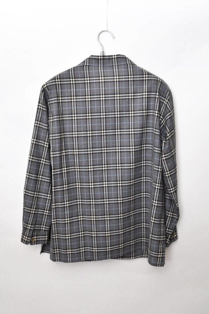 サマーウール チェック オープンカラーシャツの買取実績画像