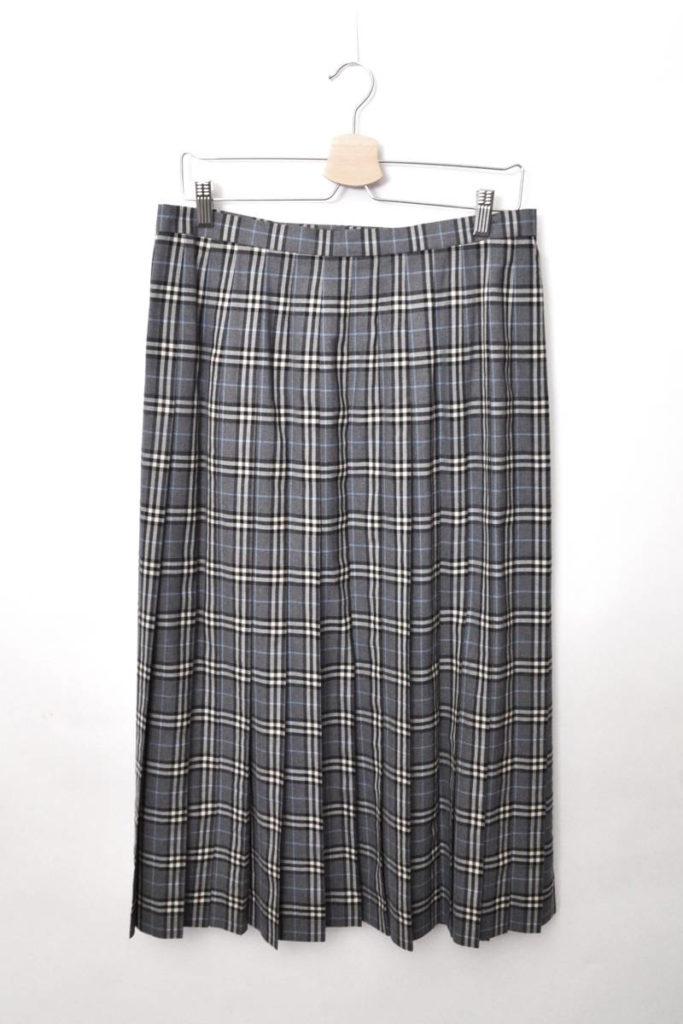 サマーウール チェック ラップロングスカートの買取実績画像