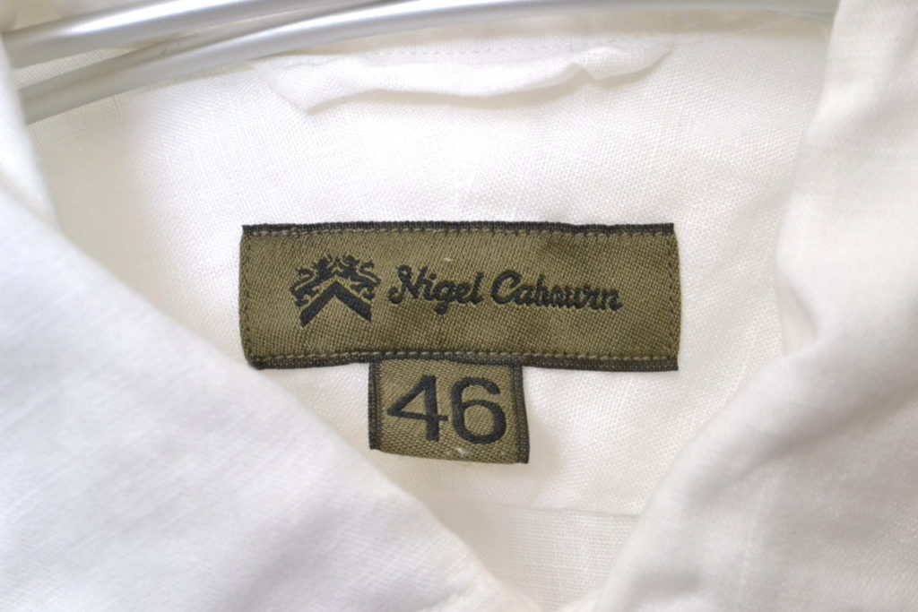 BRITISH OFFICERS SHIRT -LINEN- リネン オフィサーズシャツの買取実績画像