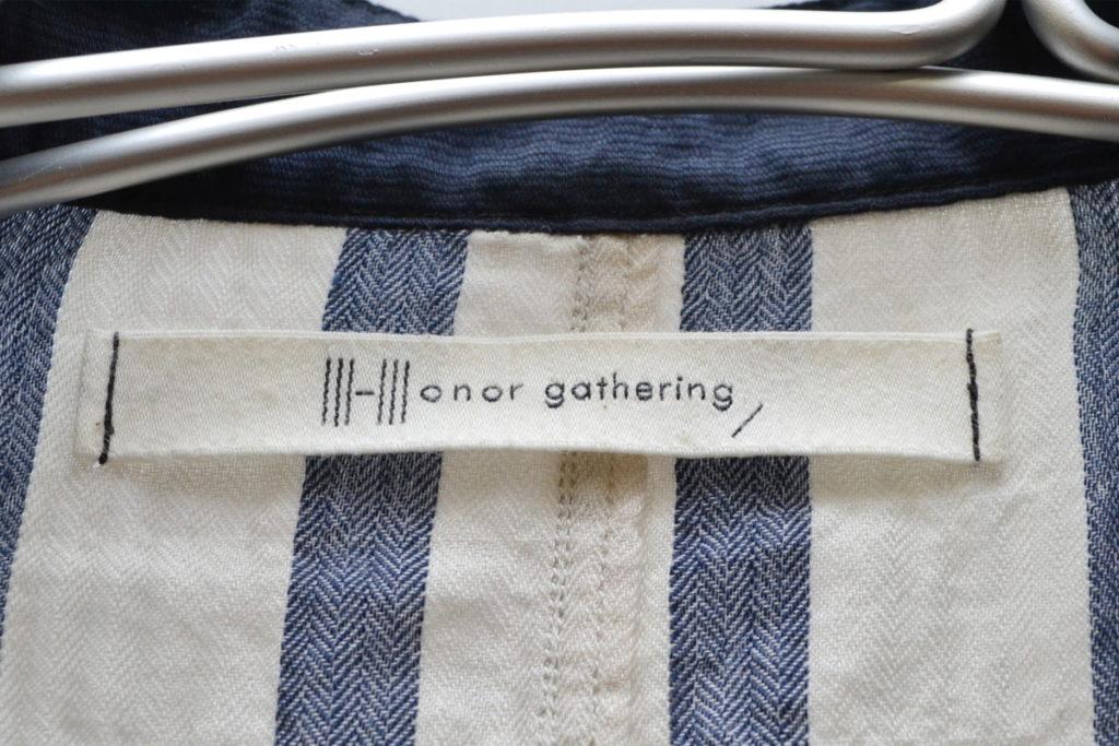 2016ss/cotton tencel shirring bold stripe regular shirts シャーリングシャツの買取実績画像
