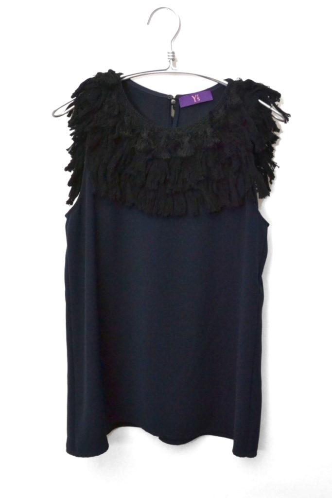 2015SS/フリンジ装飾 ノースリーブカットソー ドレス