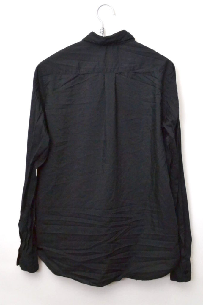 2014SS/裾ポンポンフリンジ ポリエステル縮絨 長袖シャツの買取実績画像