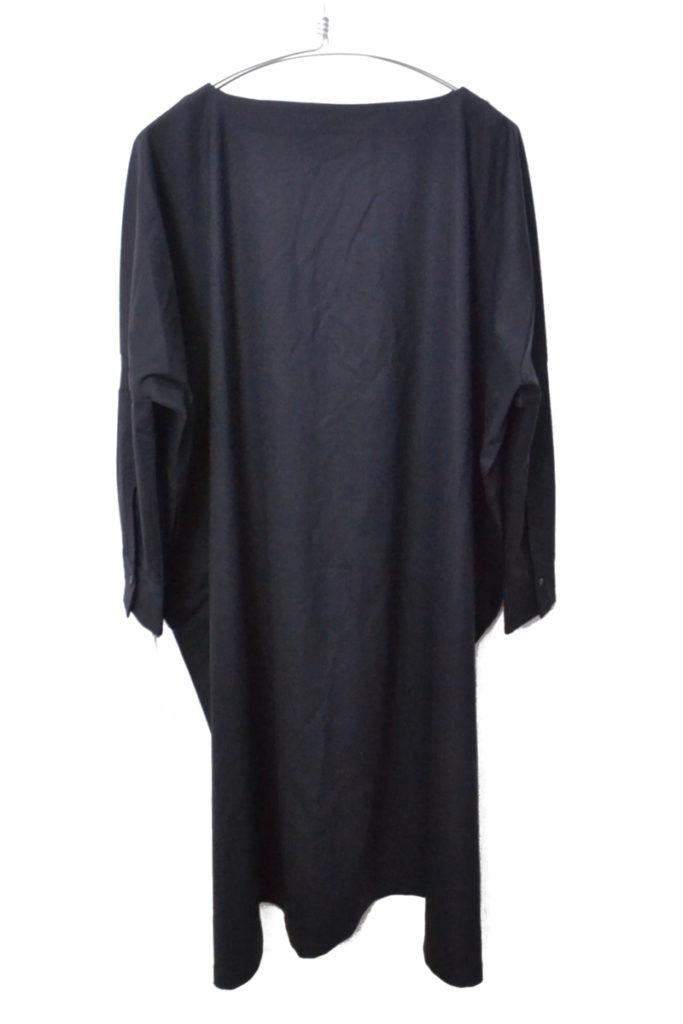Boat neck long dress finewool 2watstretch ロングドレス ワンピースの買取実績画像