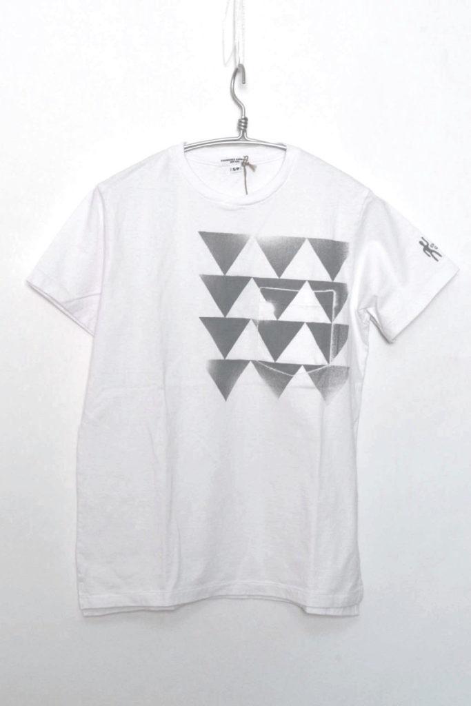 2017SS/ Printed Cross Crew Neck T-shirt クロスネック ポケットTシャツ