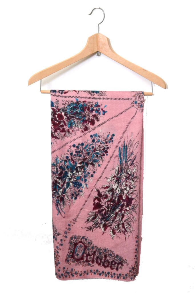 SEASONAL FLOWER ウール シルク 大判スカーフの買取実績画像