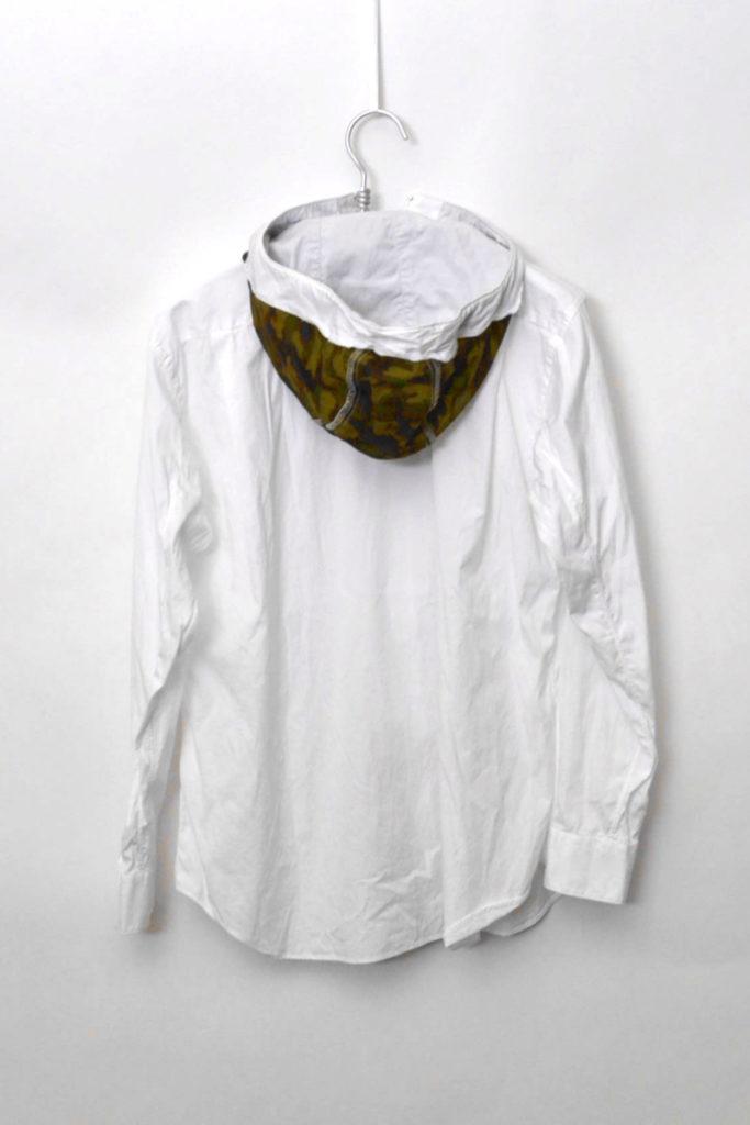 2015AW/迷彩柄ドッキング 再構築 フード付きフルジップコットンシャツの買取実績画像