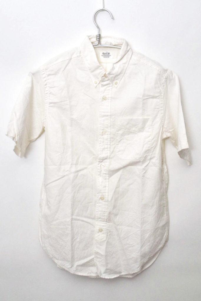 コットンリネンオックスフォード 半袖BDシャツ