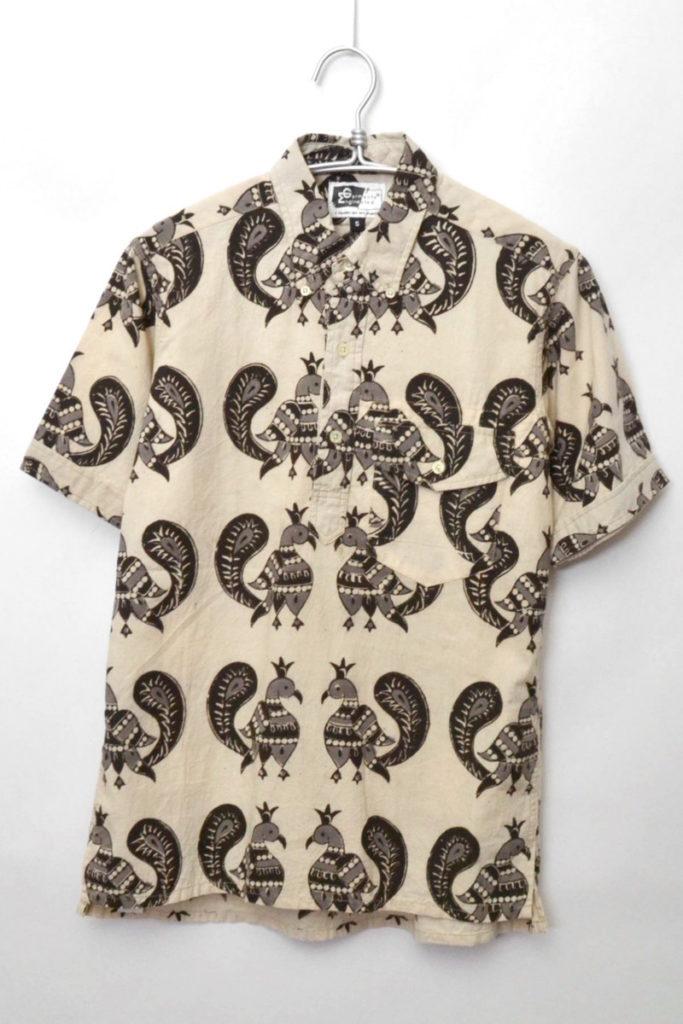2012SS/ POPOVER BD SHIRT PEACOCK PRINT ピーコック プルオーバーBDシャツ