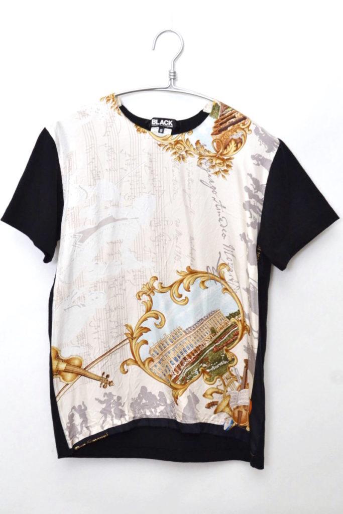 AD2013 2013AW/シルク切替 半袖Tシャツ