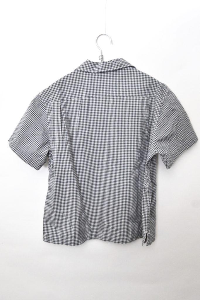 18SS/ コットン ラミー ギンガムチェック 半袖オープンカラーシャツの買取実績画像