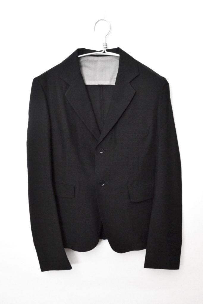 2010SS シルク混紡ウールギャバジン テーラードジャケット アンコンジャケット