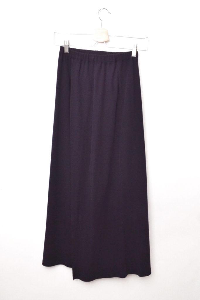 コットンジャージー ウエストゴム ラップ風スカート
