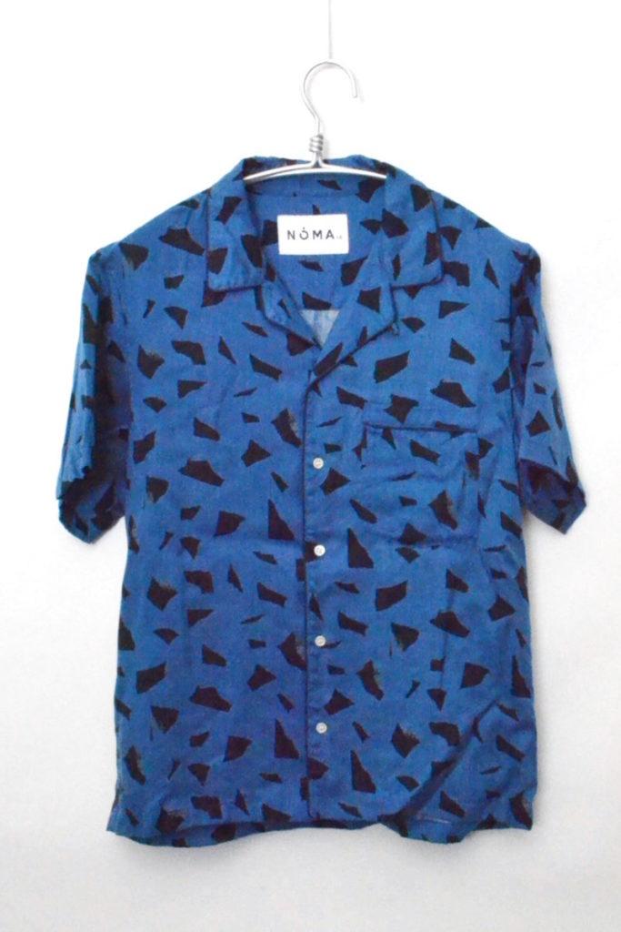 2017SS/ デザイン 半袖 オープンカラーシャツ