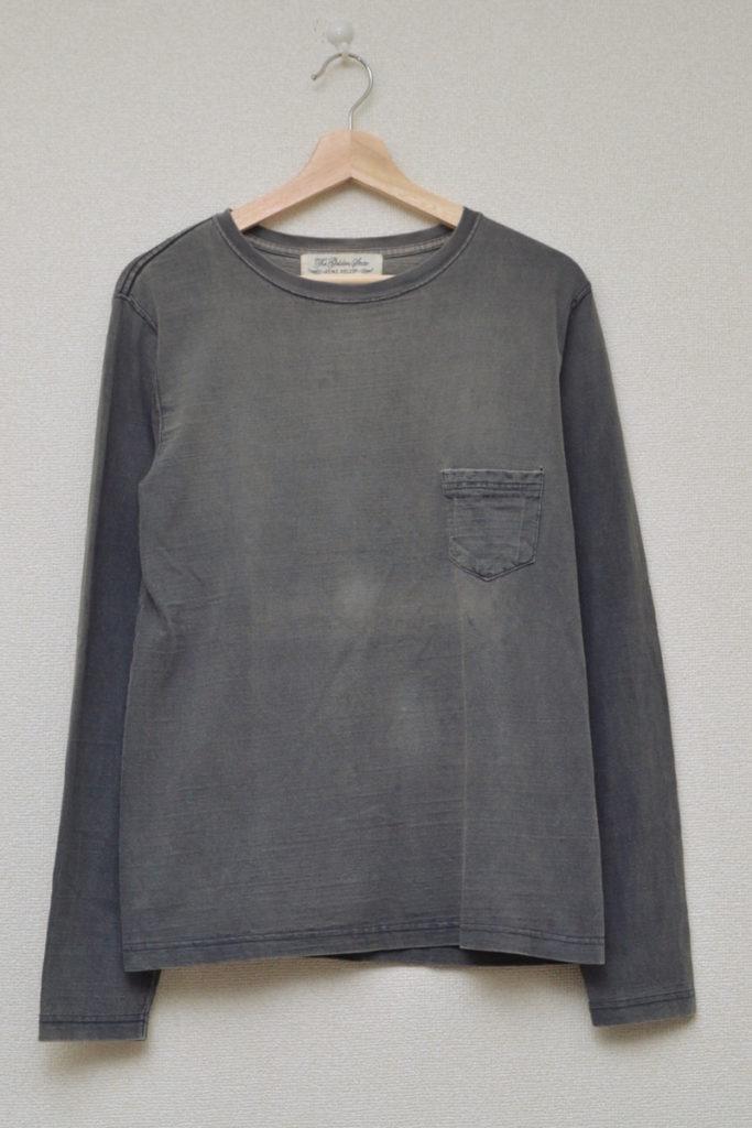 ユーズド加工 ポケット付き 長袖Tシャツ カットソー