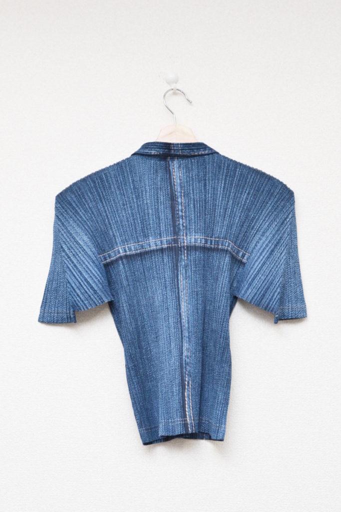 2000SS/胸ポケット デニム風 半袖ブラウス シャツの買取実績画像