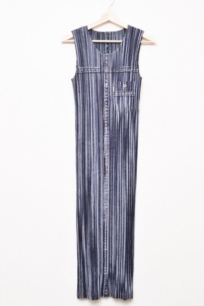 胸ポケット付き 総柄 ドレス ロングワンピース