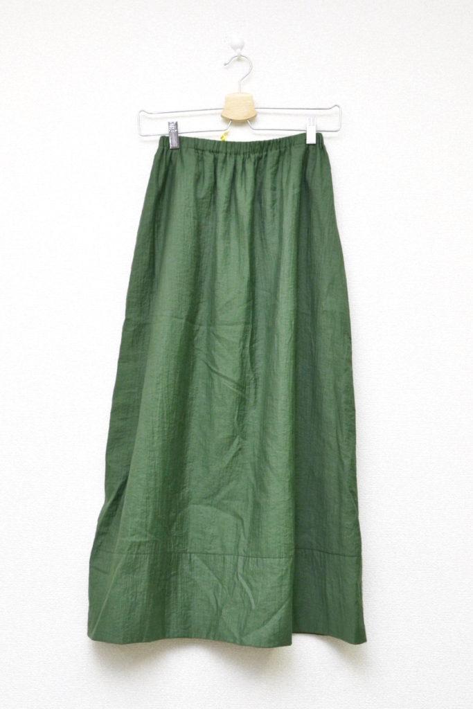2000SS/縮絨加工 コットンナイロン イージーロングスカート