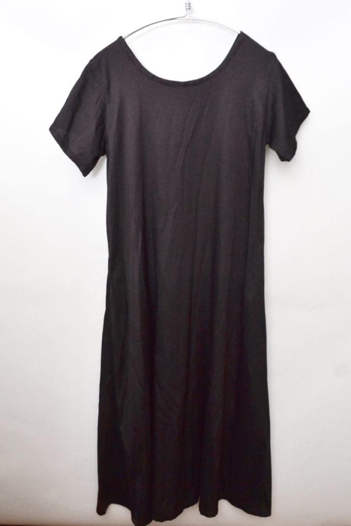 1999AW/ポリエステルレーヨンツイル 半袖ロングワンピース