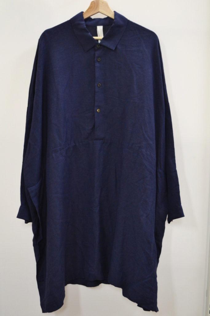 2016SS/リネン レーヨン オーバーシルエット ロングシャツの買取実績画像