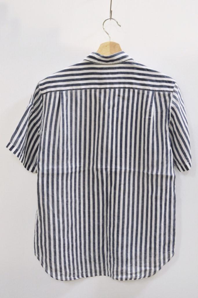 AD2008 2009SS/リネンストライプ 半袖シャツの買取実績画像