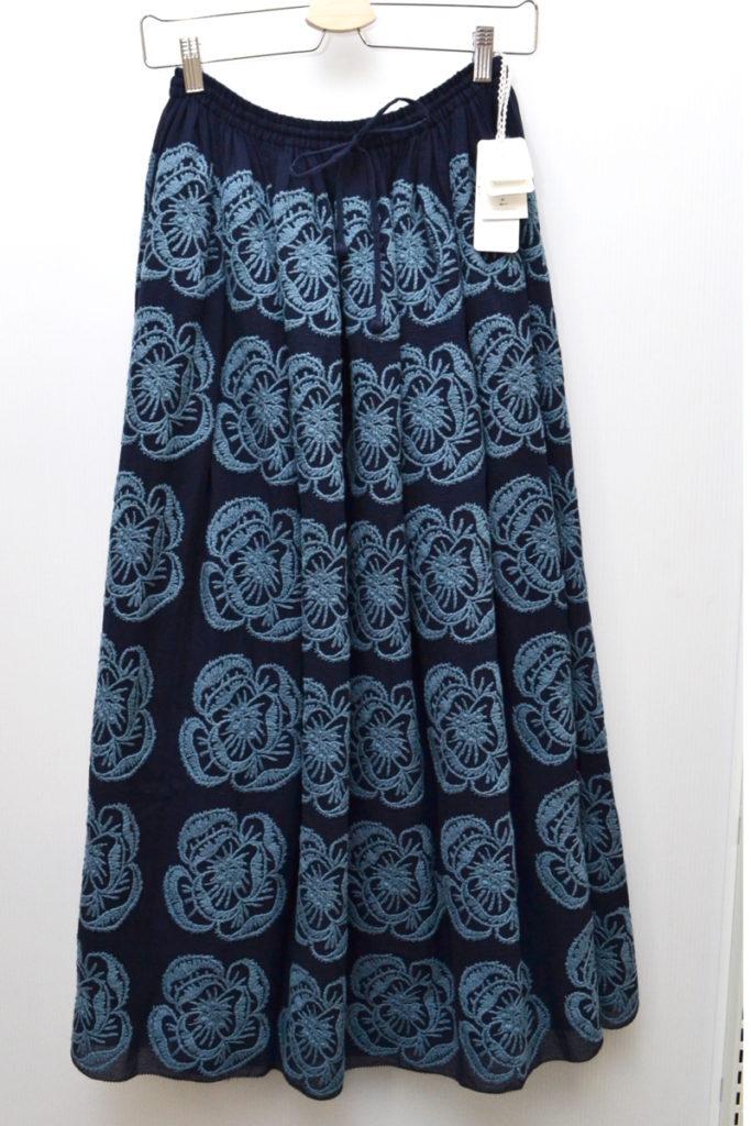 2017SS/hope ホープ 刺繍 コットン ロングスカート