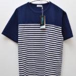COOLMAX Jersey Shoulder Panel Tee パネルボーダー Tシャツ