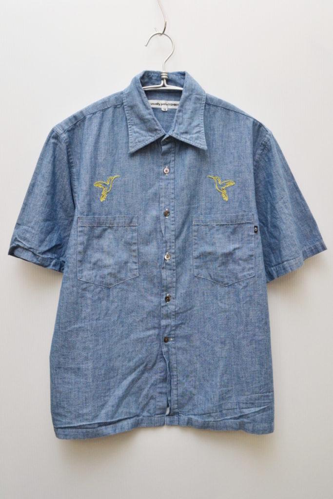 半袖シャンブレーシャツ