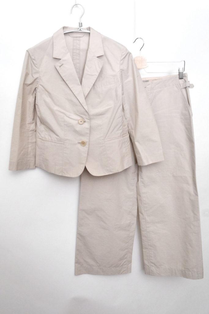 コットンシルク イージージャケット ワイドパンツスーツ セットアップ