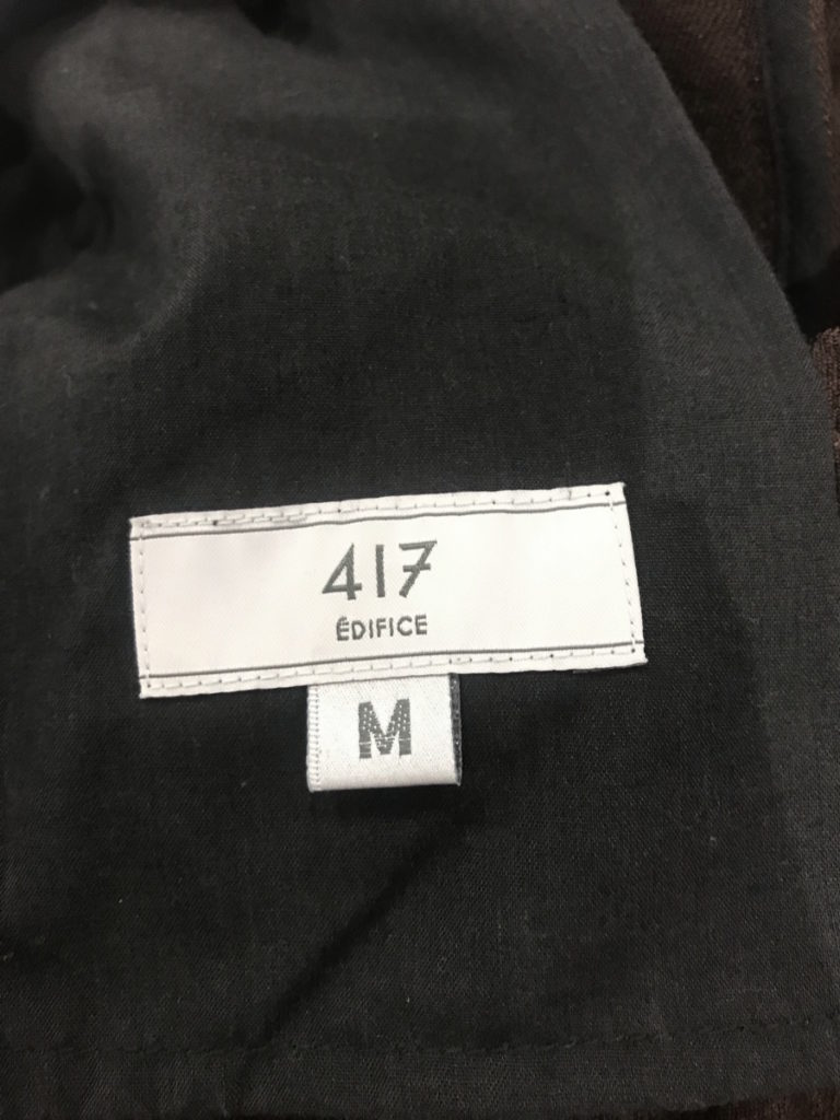 × 417 EDIFICE ◆ 2018AW/スラックスパンツ スラミチの買取実績画像